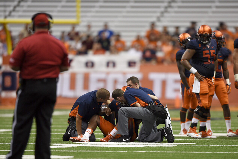 Terrel Hunt Tore His Achilles Against Rhode Island In Syracuses First Game Of The Season