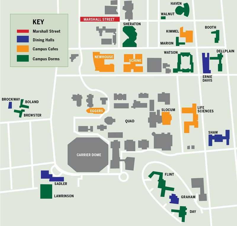 Suny Esf Campus Map.The Ultimate Guide To The Su Food Scene For Freshmen The Daily