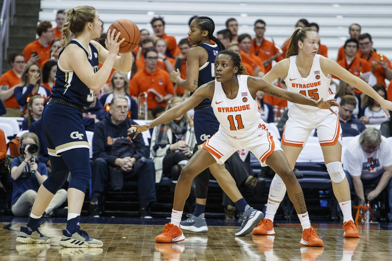 Syracuse Can T Contain Georgia Tech In 82 64 Loss